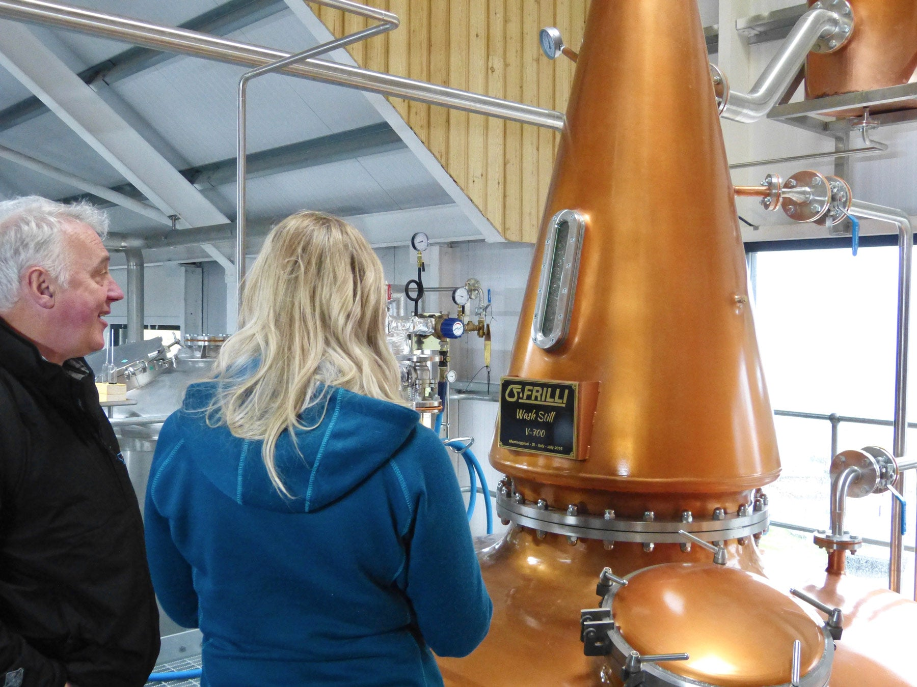Jane Hunter Iain Hector Ross Isle of Raasay Distillery Tour