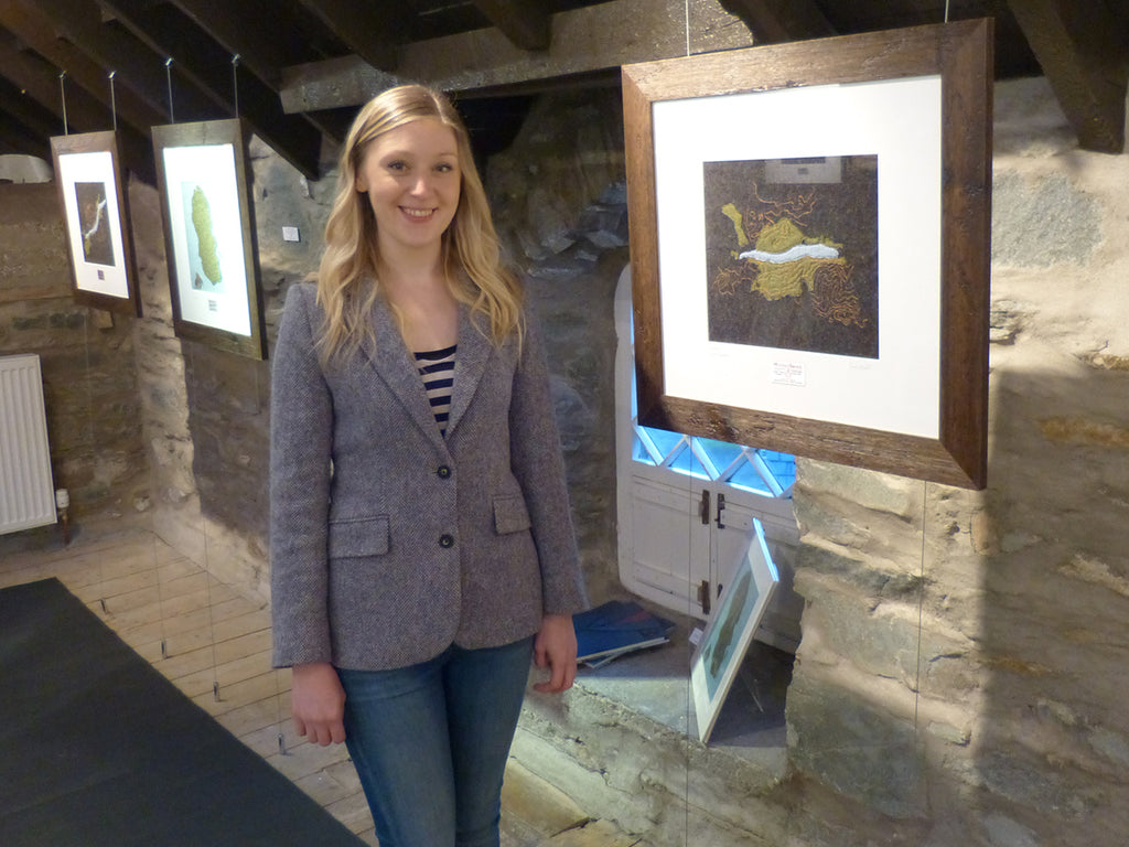 Jane Hunter at the opening of her first solo art exhibition