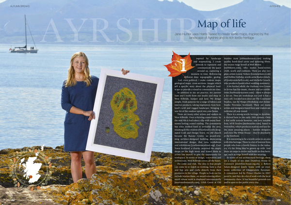 Artist Feature in Scottish Field Magazine - Jane Hunter
