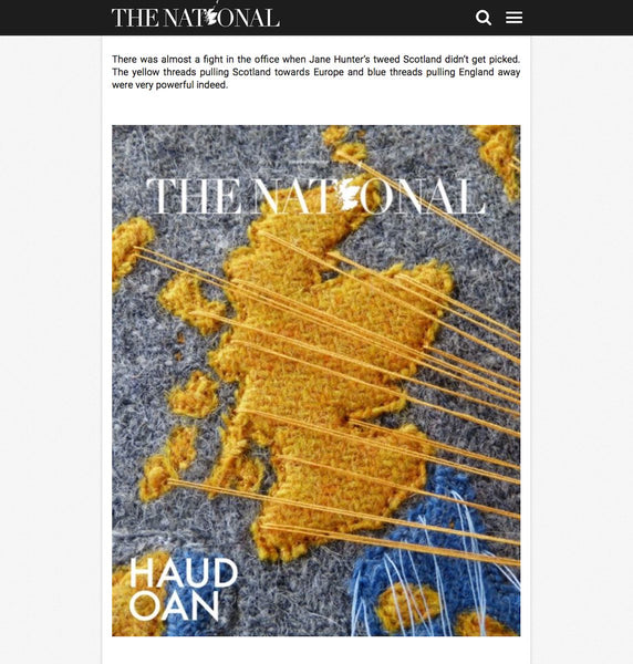 Jane Hunter - Threads pulling towards Europe  - The National Newspaper
