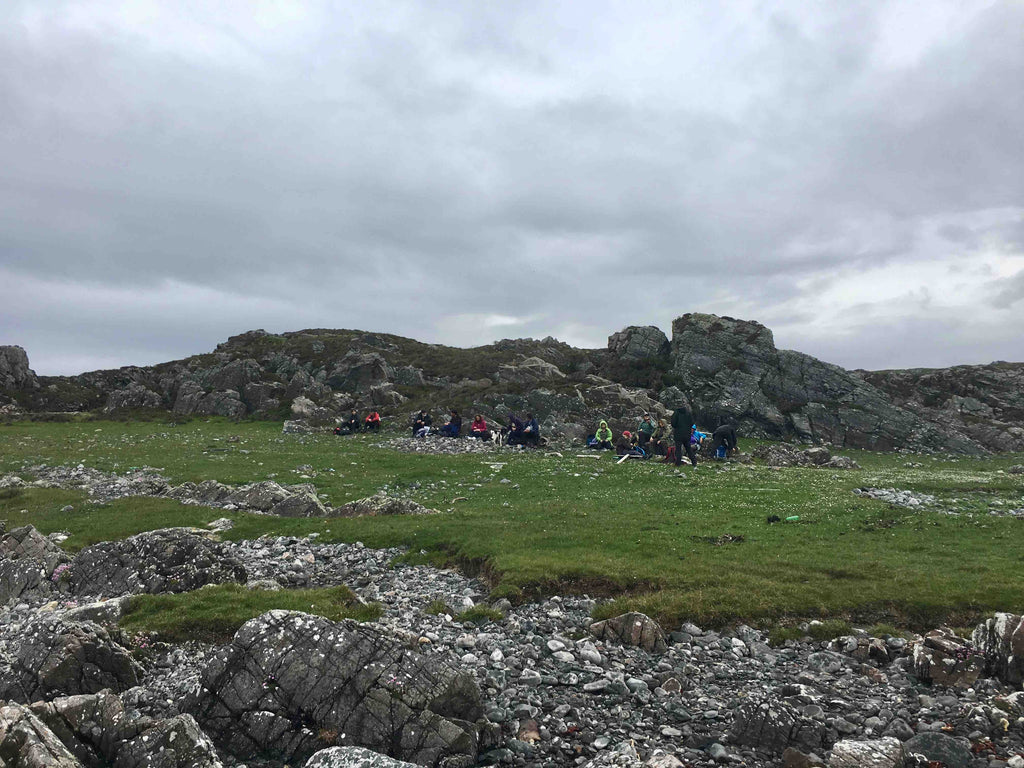 Lochaber Geopark Geology Group lunch at Rhue Peninsula Arisaig