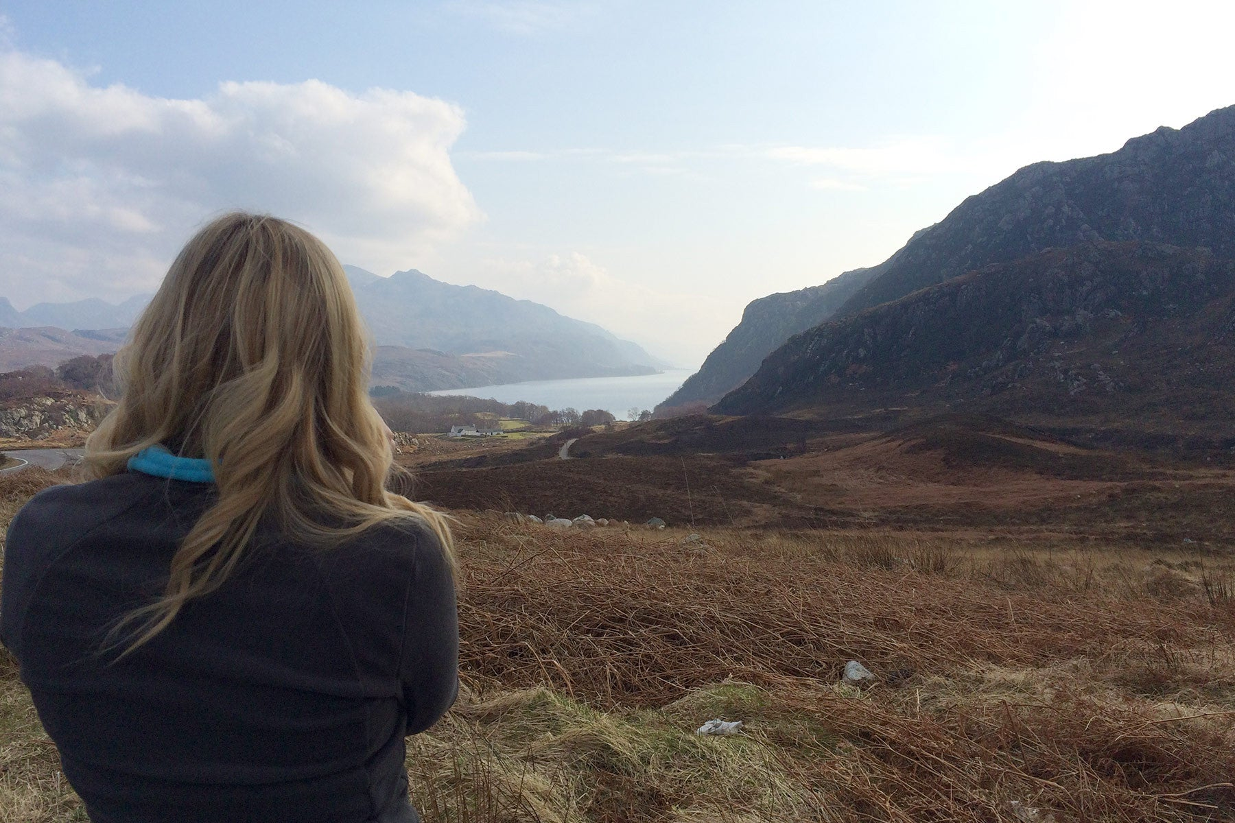 Looking down Loch Maree from the beallach