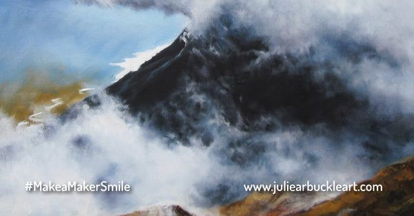 Landscape Painting of Liathach Mountain by Julie Arbuckle - Scottish Artist
