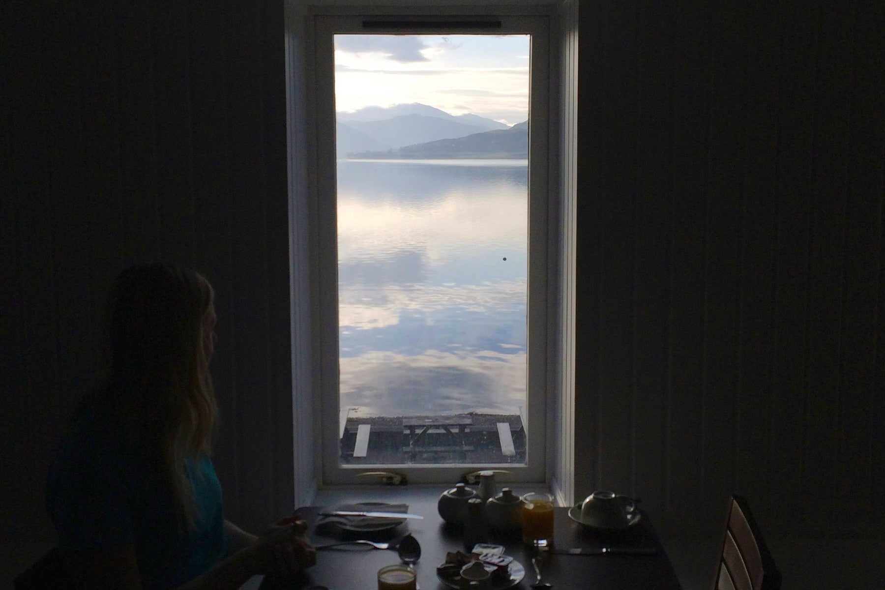 Scottish Breakfast with a view Loch Broom, Ullapool, Arch Inn