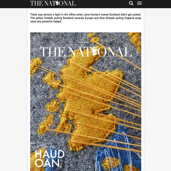 Scottish National Newspaper Front Cover Design Competition by Artist Jane Hunter