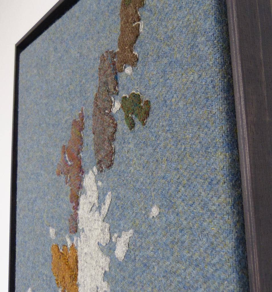 Handmade map of Shetland in Tweed by Jane Hunter