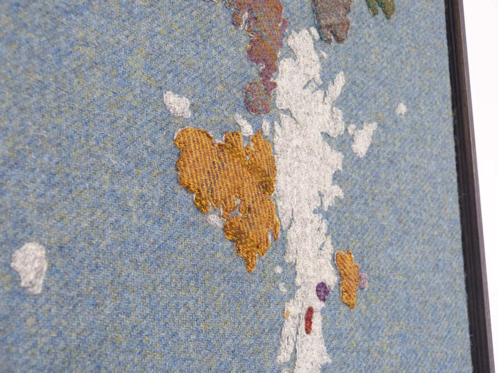 Textile Art Map of Shetland Isles by Jane Hunter