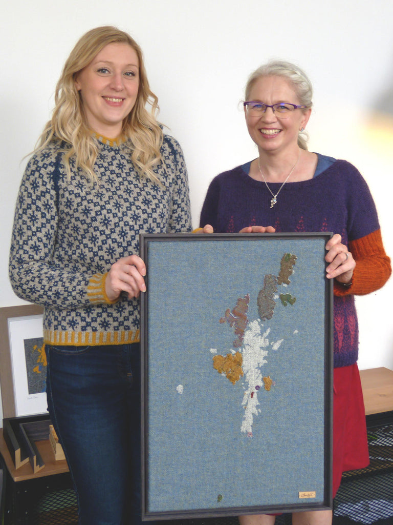 Jane Hunter Map Art and Shona Mason Hand Knit - Kate Davies Oa Hoody