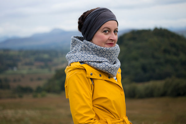 Kate Davies Snood by Tom Barr Photography