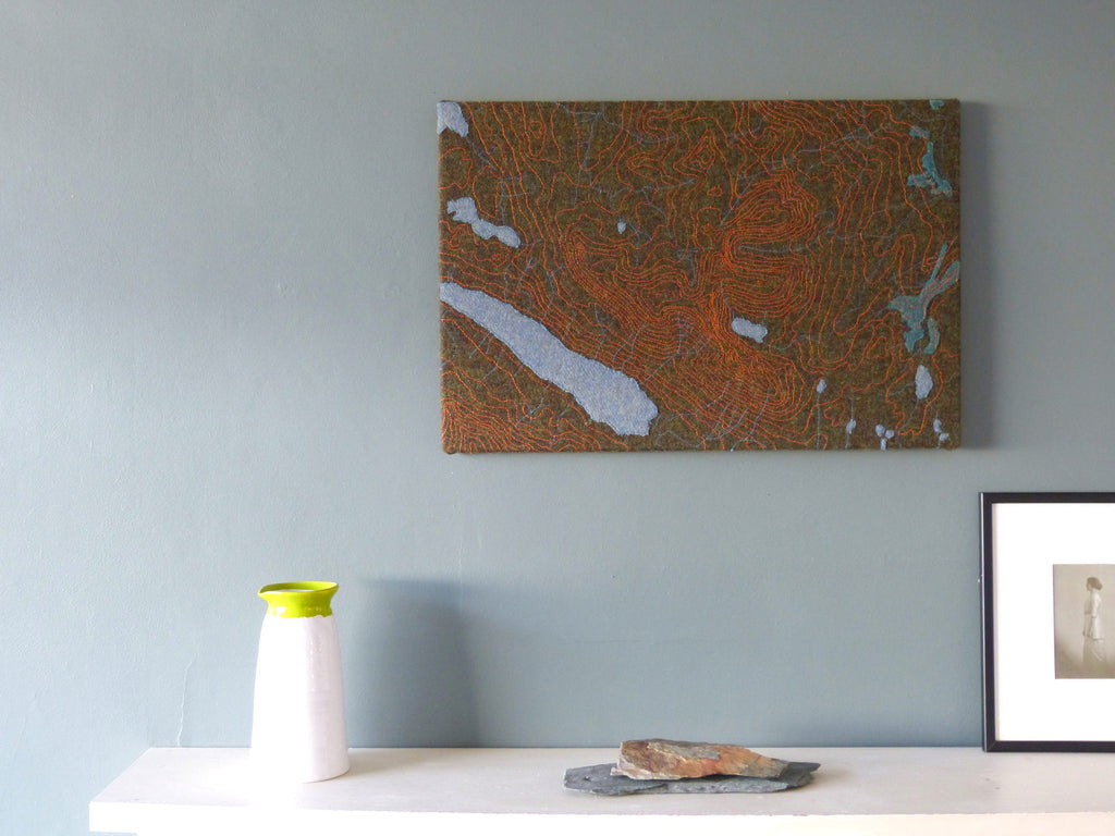 Image of An Teallach Textile Map Wall Art