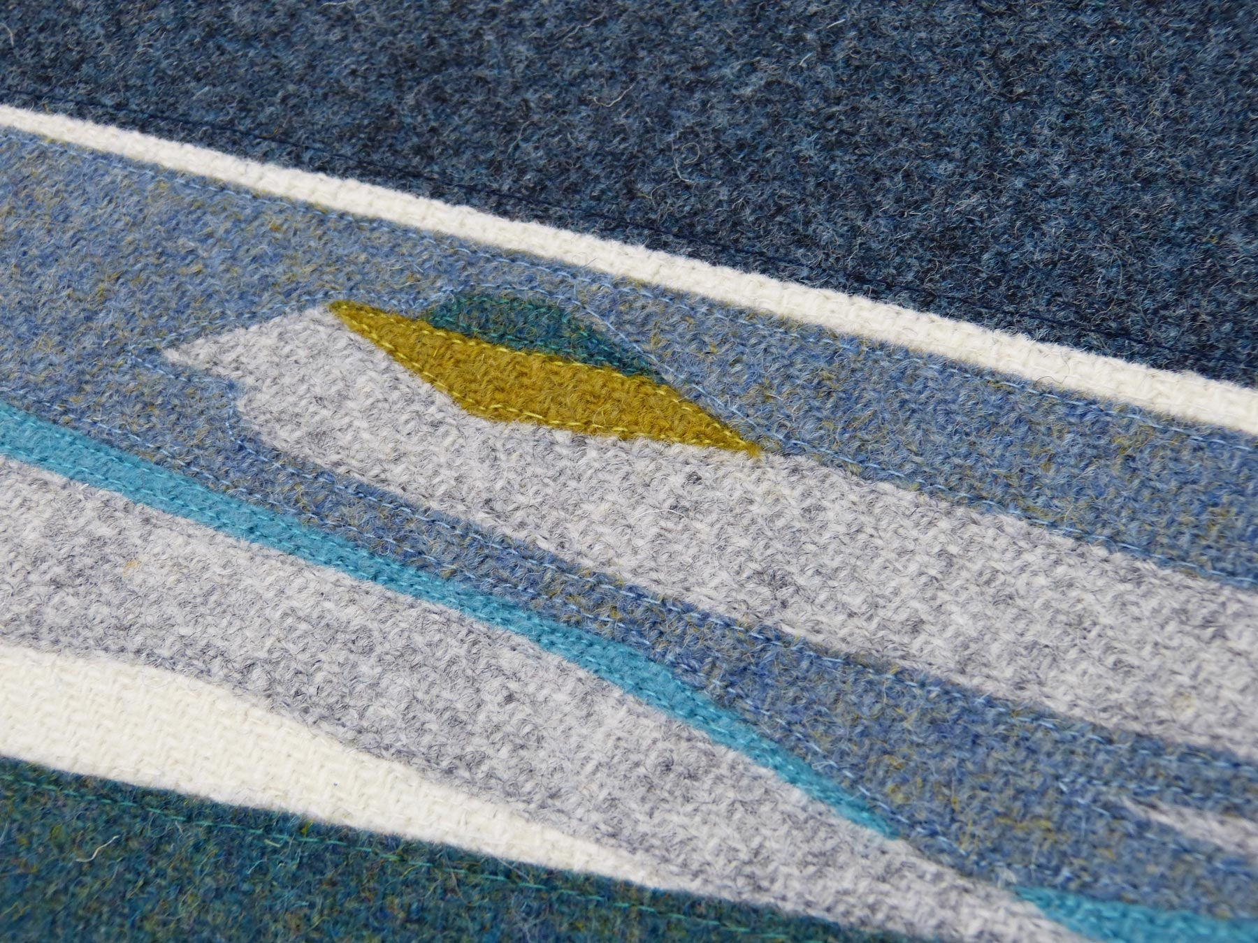 Detail Shot - Fieldwork, Rhue Peninsula, Arisaig, Scotland - Contemporary Landscape Art - Textiles