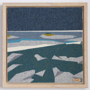 Fieldwork, Rhue Peninsula, Arisaig, Scotland - Contemporary Landscape Art - Textiles
