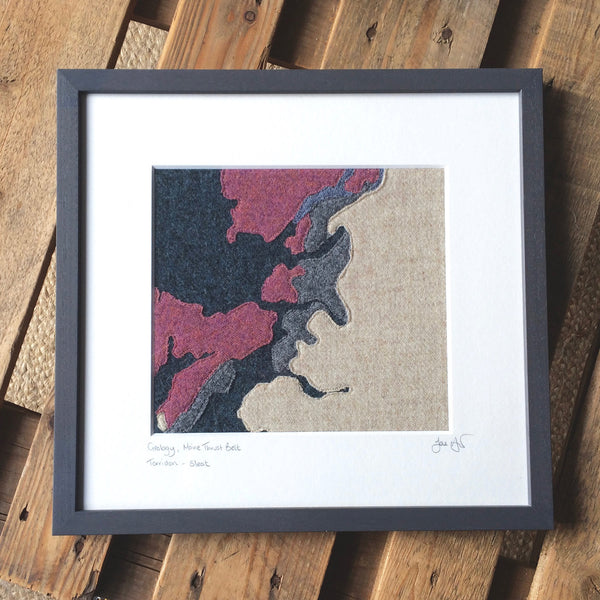 Map Art of Moine and surrounding geology, Torridon, Lochalsh, Skye