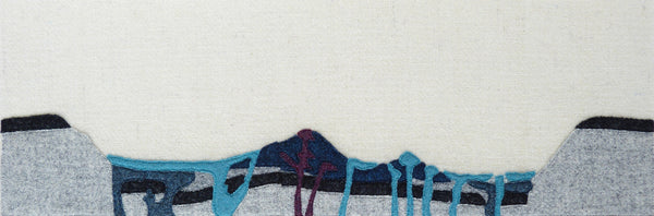 Geological Cross Section of Arran Mountains - Textile Art