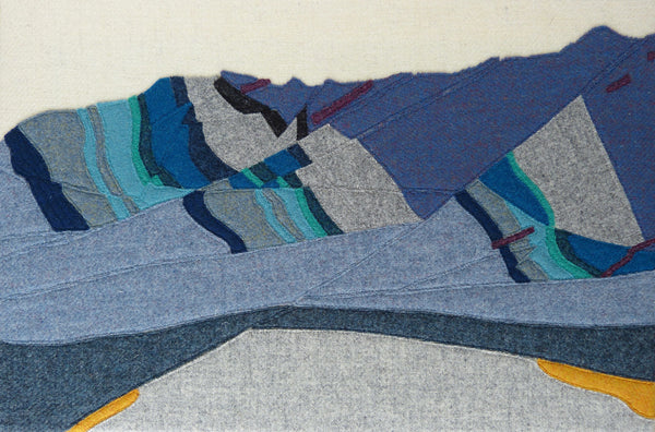 Aeolian Blue, Corrie, Isle of Arran - Geological Art - Textiles