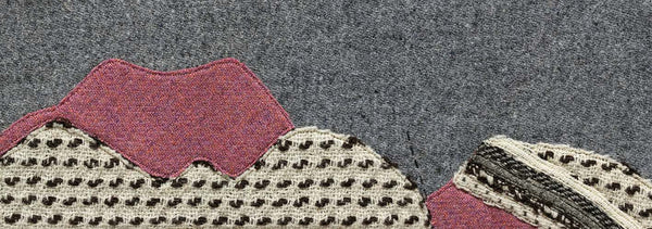 Geological Cross Section of Slioch, Torridon - Textile Art