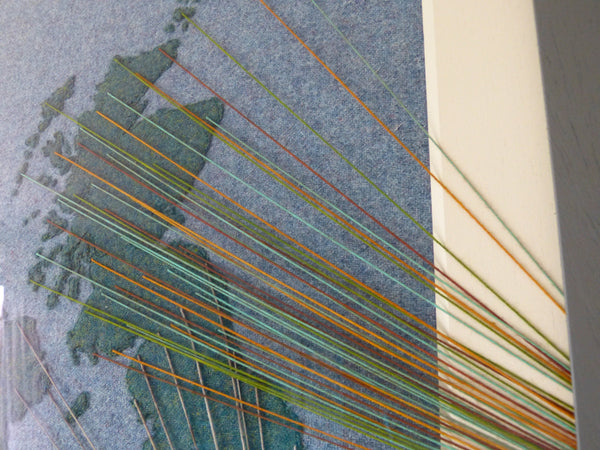 Brightness from Scotland - Wool Map - Coloured Yarn