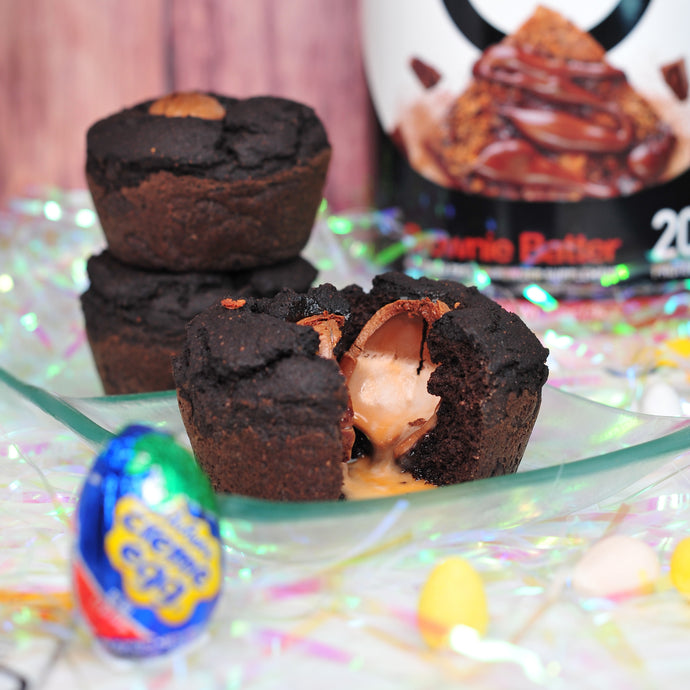 Cadbury Egg Filled Fudge Cupcakes