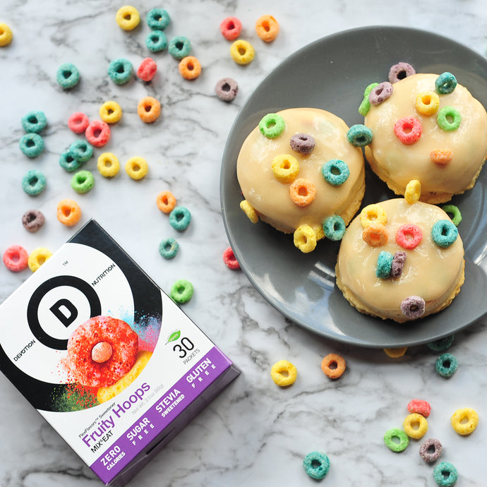 Fruity Hoops Protein Donuts
