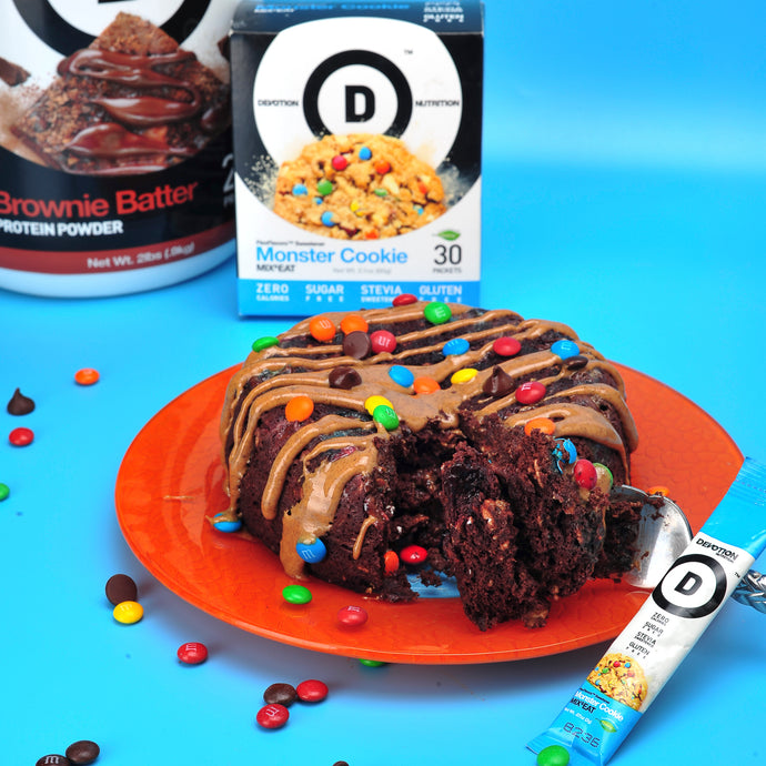 Monster Cookie Microwave Cake
