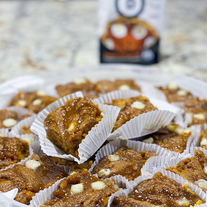 Sweet Potato Pumpkin Pie Protein Blondies