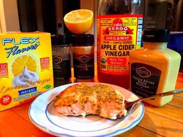 Sugar Free Lemon Glaze over Salmon