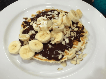 High Protein Bananas Foster Waffle Recipe