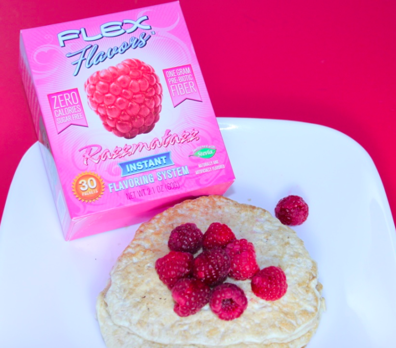 High Protein Raspberry Pancakes