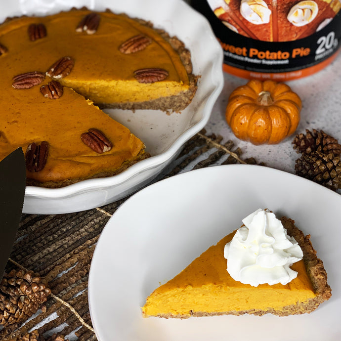 Sweet Potato Pumpkin Protein Pie and Pie Crust
