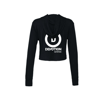 Women's Cropped Hoodie (Black Triblend)