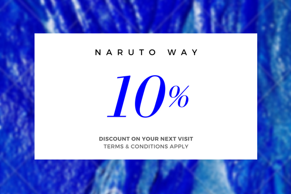 Naruto Way 10% off all orders