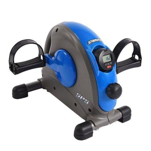 Stamina Compact Adjustable Mini Exercise Bike with Smooth Pedal System, Blue - all best sales