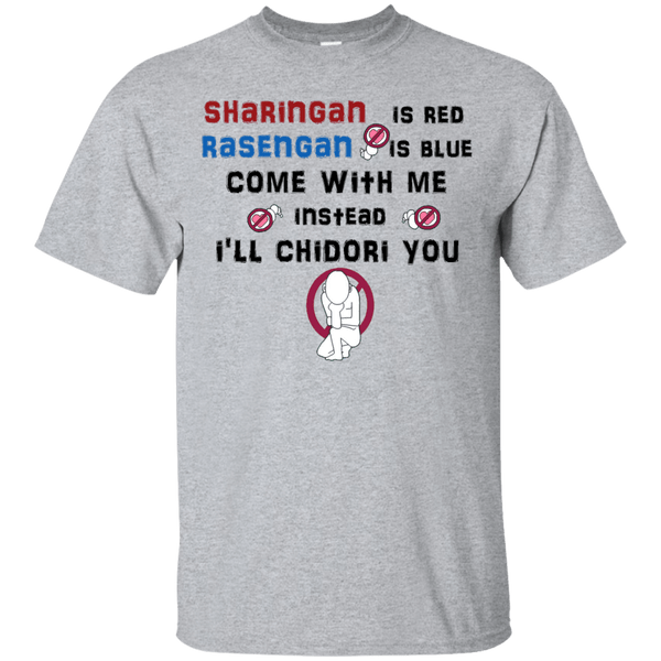 Sharingan, Rasengan and Chidori - Custom Ultra Cotton T-Shirt - all best sales