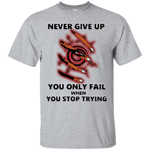 Naruto - Never Give Up - Custom Ultra Cotton T-Shirt - Naruto Way
