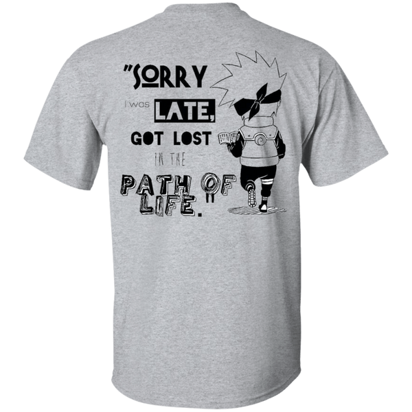 I was Late - Custom Ultra Cotton T-Shirt (Back) - all best sales