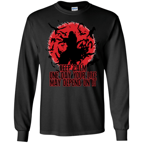 Itachi Uchiha - Keep Calm - LS Ultra Cotton Tshirt - Naruto Way