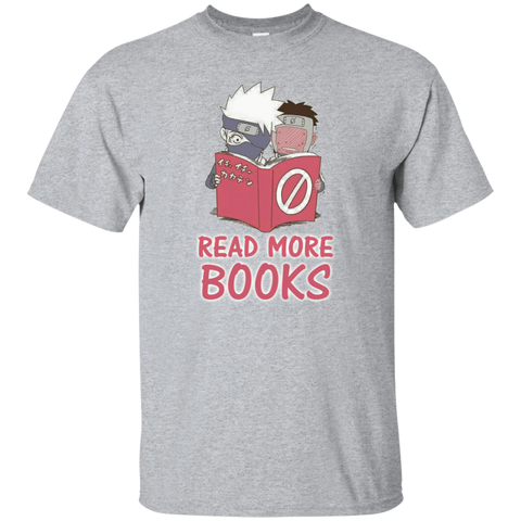 Read More Books! - Kakashi and Yamato Funny Shirt S-6XL. My friend, share if you get it. - Naruto Way