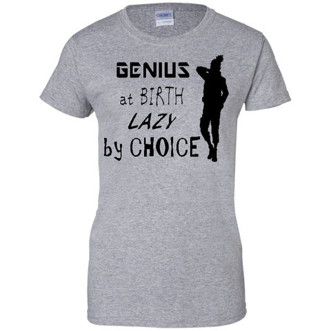 Naruto - Shikamaru Lazy Genius - Ladies Custom 100% Cotton T-Shirt - all best sales