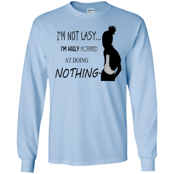 Naruto - Shikamaru I am not Lazy - LS Ultra Cotton Tshirt - Naruto Way