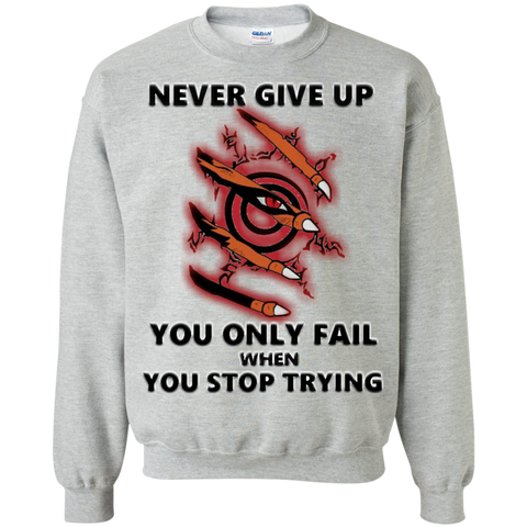 Christmas Sweatshirt - Never Give Up - Naruto Way