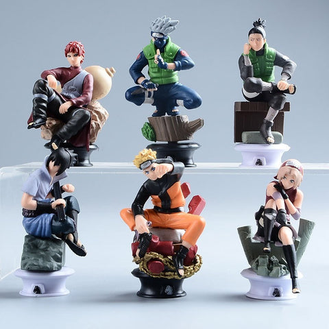 Action Figures 6 Pcs/set Collection. Naruto, Kakashi, Sakura, Sasuke, Gara, Shikamaru. Free Shipping.