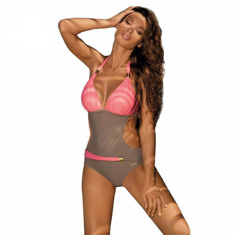 Brazilian Women's One Piece Monokini Push Up Padded Bikini Swimsuit Swimwear Bathing Bra