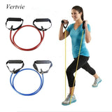 120cm Yoga Pull Rope Fitness Resistance Bands Exercise Tubes Practical Training Elastic Band Rope Yoga Workout Cordages 1PC - all best sales