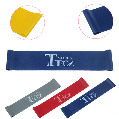 TTCZ Yoga Pilates Exercise Loop Resistance Rubber Bands Resistance Fitness Stretch Loop rope Crossfit Band for bodybuilding
