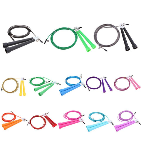 3M Jump Skipping Ropes Cable Steel Adjustable Fast Speed ABS Handle Jump Ropes Crossfit Training Boxing Sports Exercises