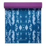 Gaiam Premium Print Reversible Yoga Mat, Purple Lotus, 6mm - all best sales