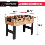 MD Sports 48 Inch 3-In-1 Combo Game Table, 3 Games with Billiards, Hockey and Foosball, accessories included - all best sales