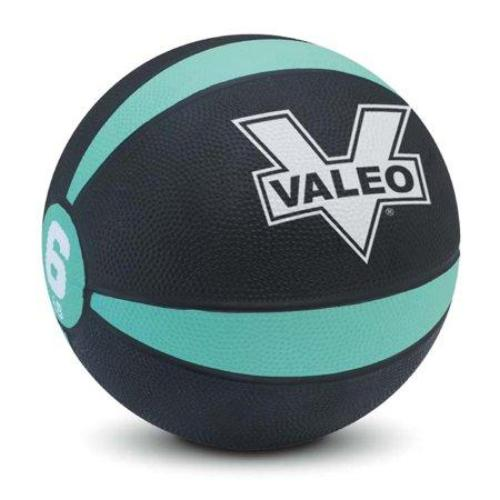 Valeo 6-Pound Medicine Ball Sturdy Rubber Construction Textured Weight Ball Includes Exercise Chart Strength Plyometric Balance Training Muscle Build - all best sales