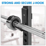 Yes4All Pair of J Hooks for Power Rack, Squat Rack - J Hook Weight Rack (2 inch Square Tube) - all best sales