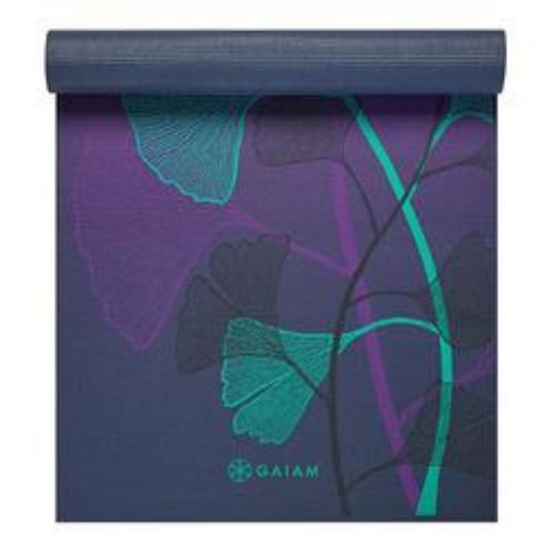 Gaiam Premium Print Yoga Mat, Lily Shadows, 6mm - all best sales